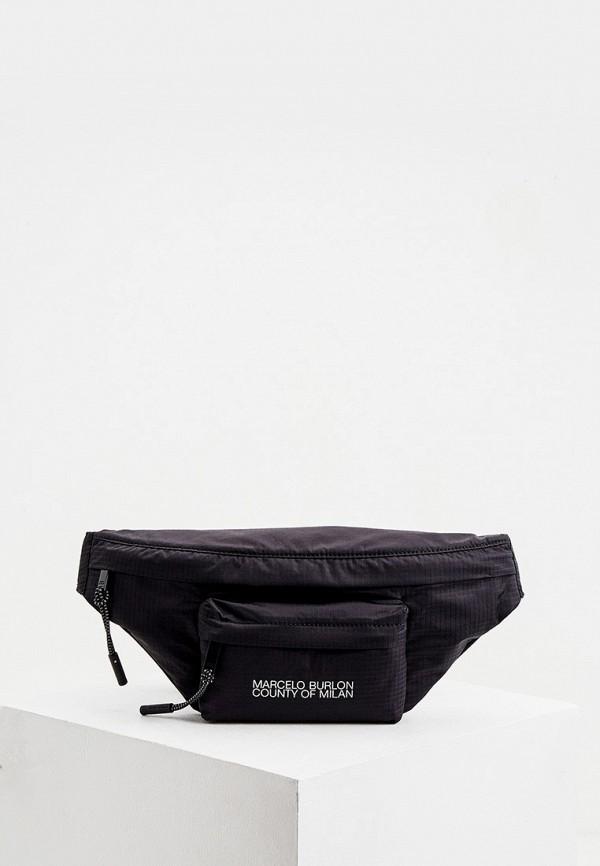 мужская сумка marcelo burlon county of milan, черная
