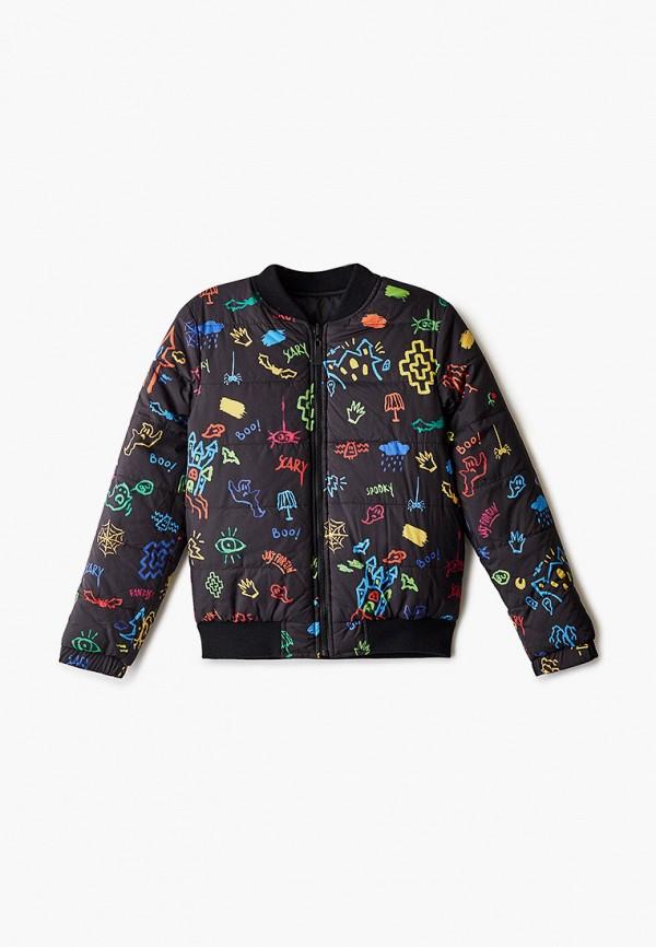 куртка marcelo burlon kids of milan для мальчика, черная