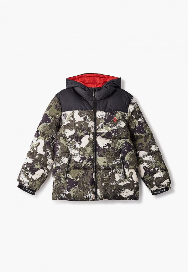 куртка marcelo burlon kids of milan для мальчика, хаки