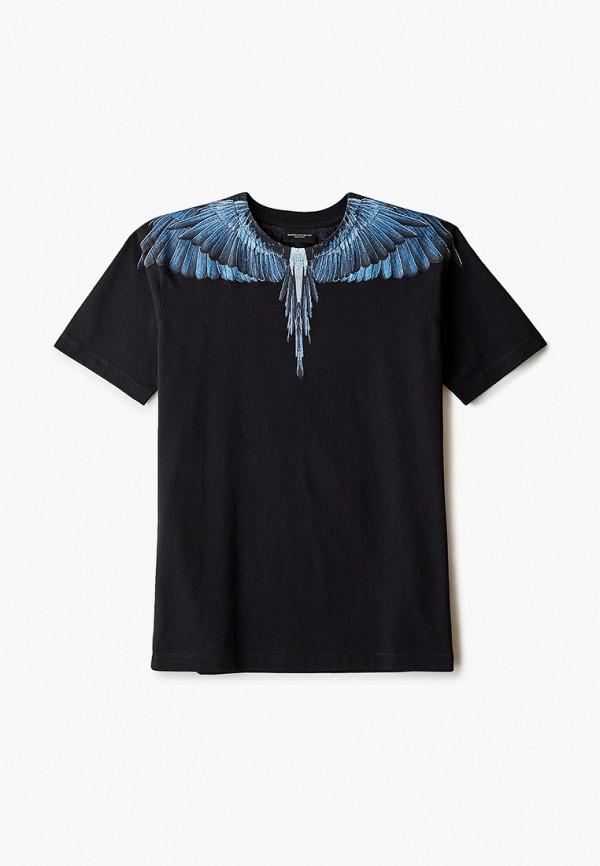 футболка с коротким рукавом marcelo burlon kids of milan для мальчика, черная