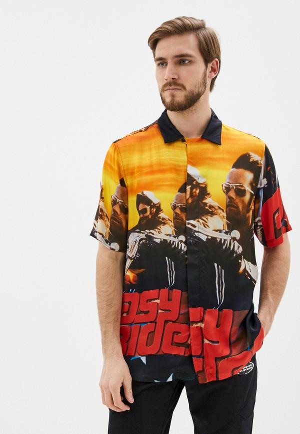 мужская рубашка с коротким рукавом marcelo burlon county of milan, разноцветная