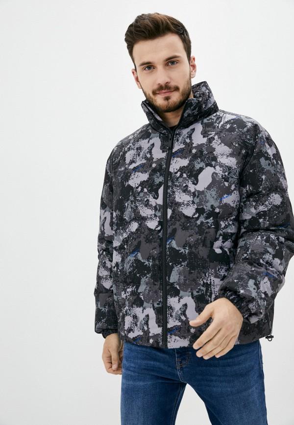 мужская куртка marcelo burlon county of milan, серая