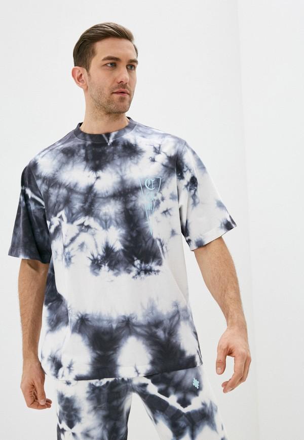 мужская футболка marcelo burlon county of milan, разноцветная
