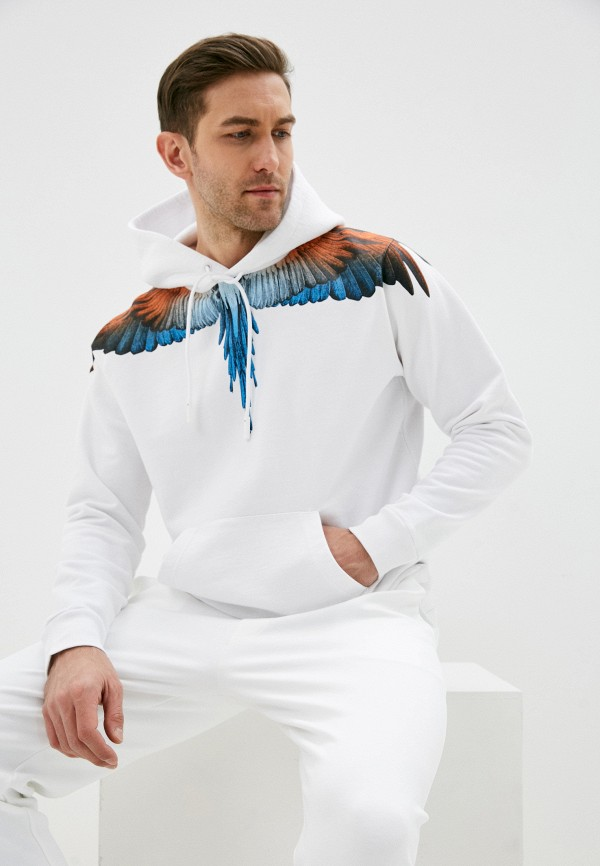 мужские худи marcelo burlon county of milan, белые