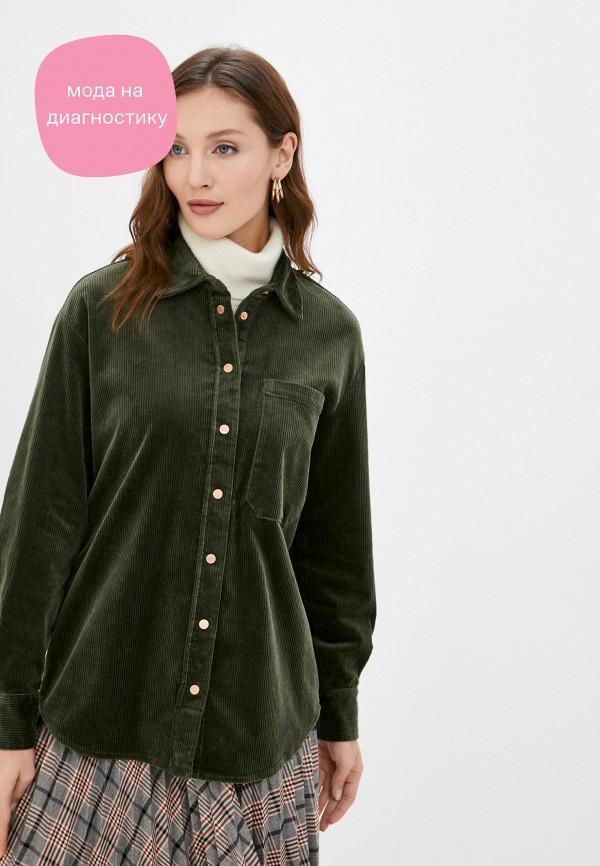 женская рубашка с длинным рукавом marc o'polo denim, хаки