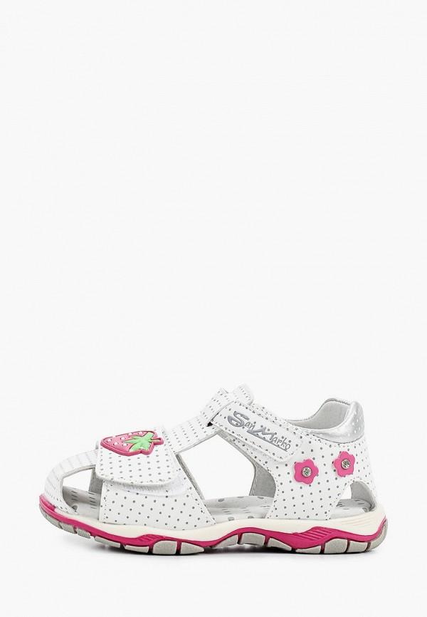 сандалии marko для девочки, белые