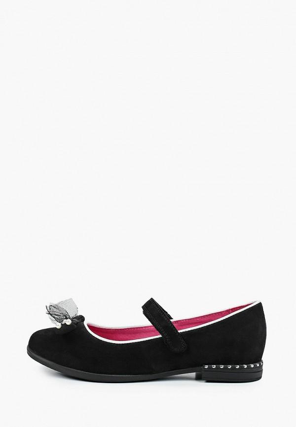 туфли marko для девочки, черные
