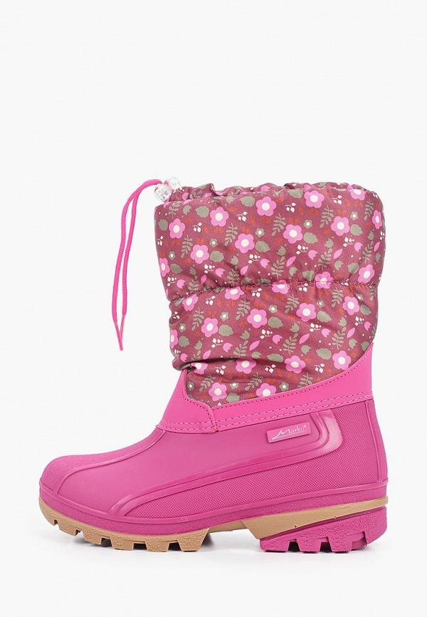 дутики marko для девочки, розовые