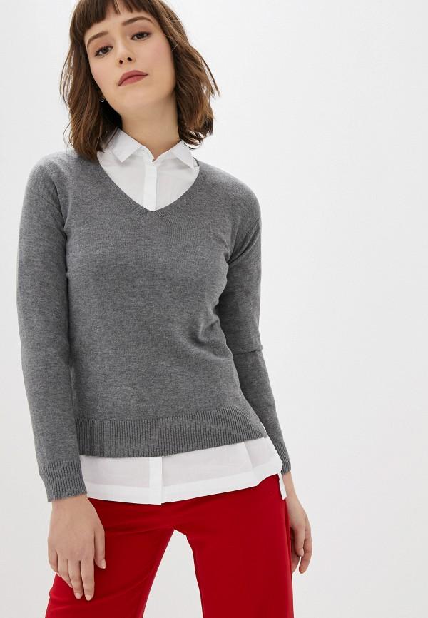женский пуловер manode, серый