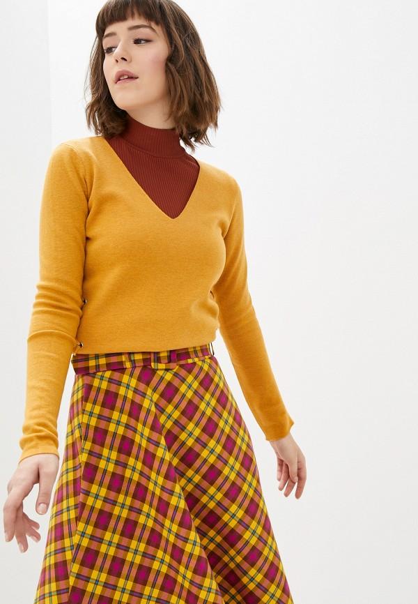 женский пуловер manode, желтый