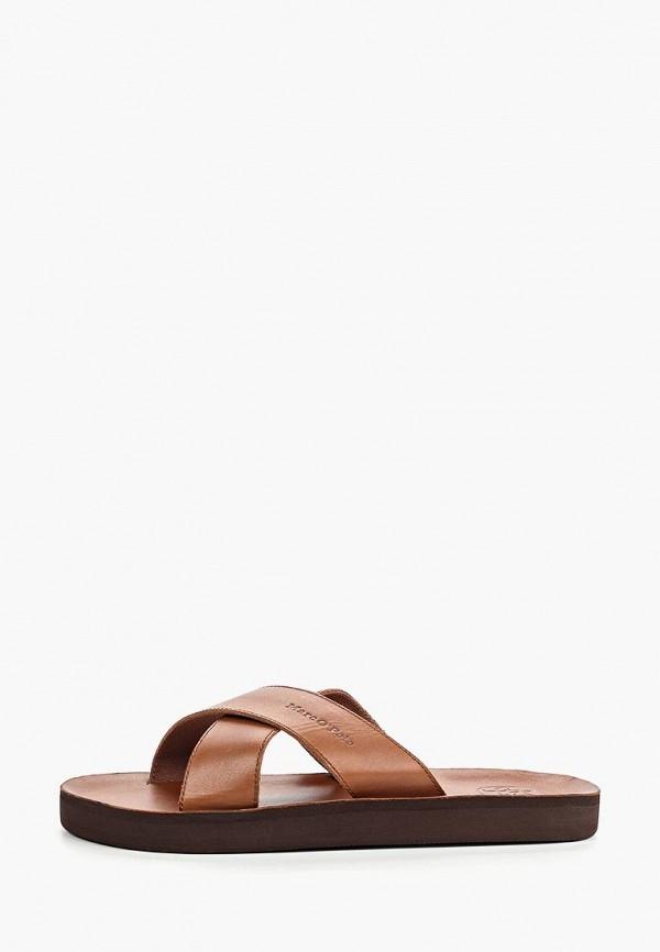 мужское сабо marc o'polo, коричневое