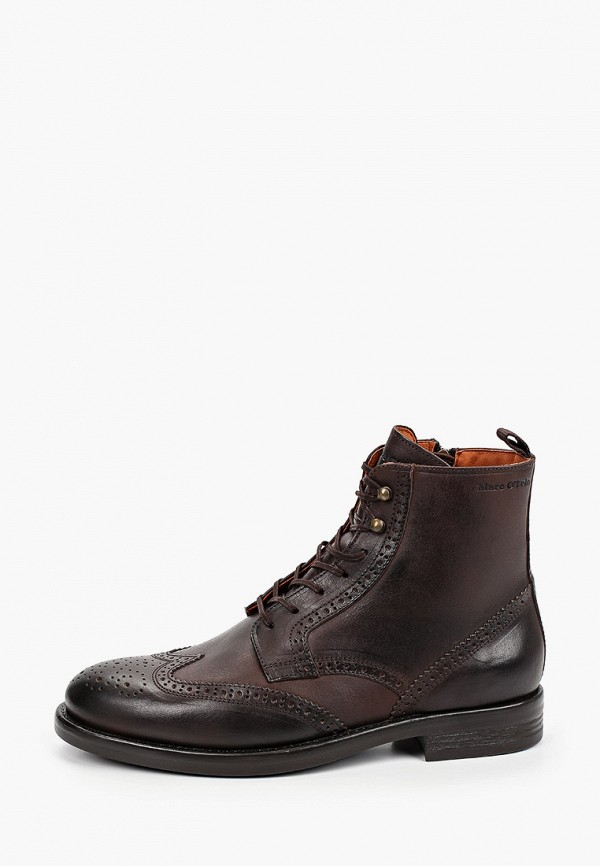 мужские ботинки marc o'polo, коричневые