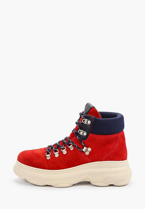 женские ботинки marc o'polo, красные