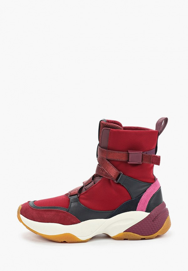 женские кроссовки marc o'polo, бордовые
