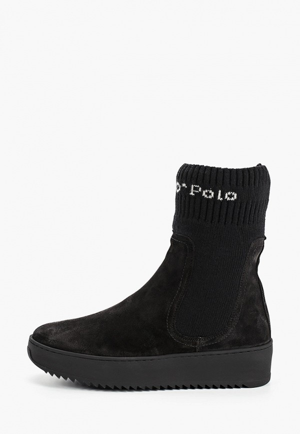 женские полусапожки marc o'polo, черные