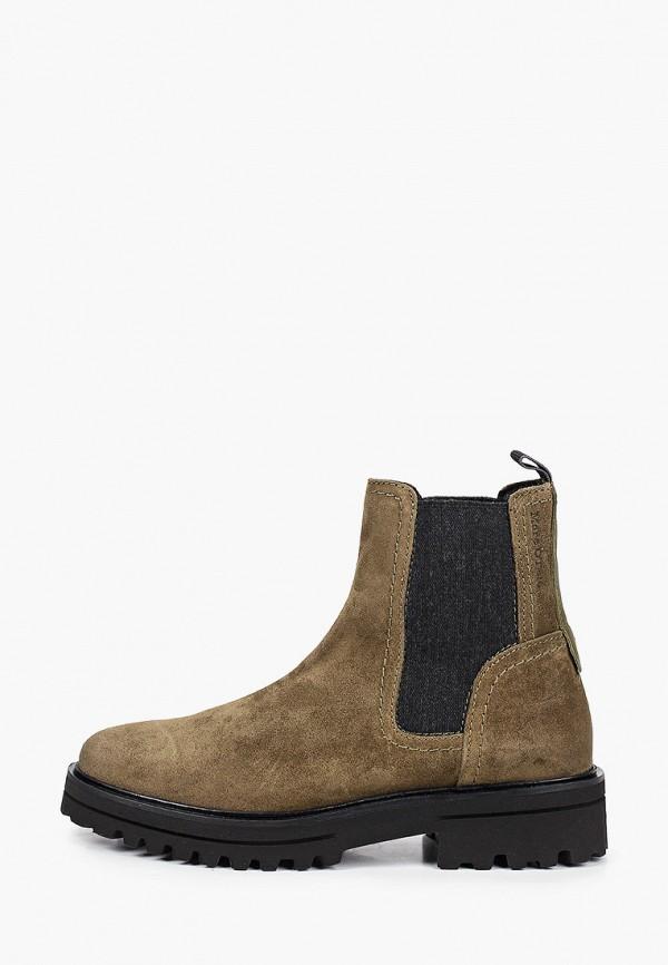 женские ботинки marc o'polo, зеленые