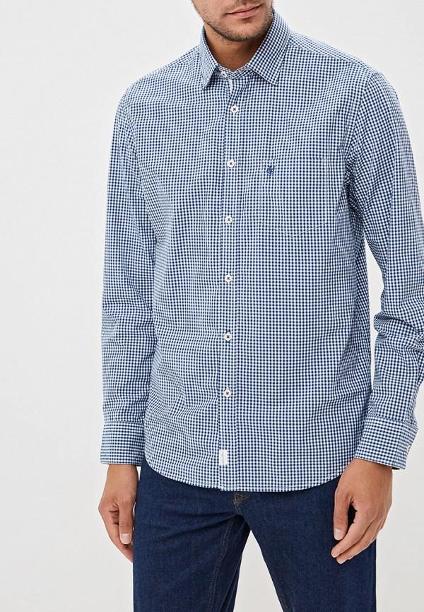 мужская рубашка с длинным рукавом marc o'polo, синяя