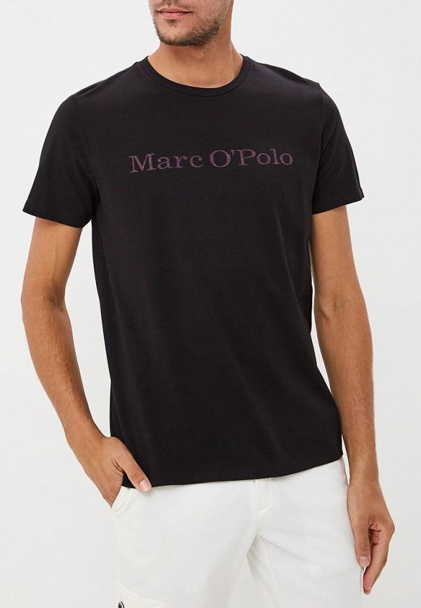 мужская футболка с коротким рукавом marc o'polo, черная