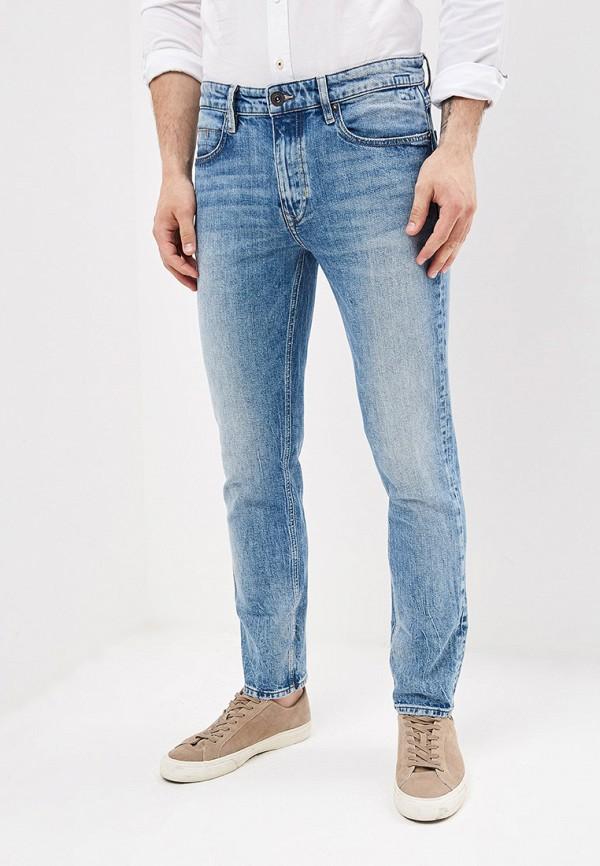 мужские зауженные джинсы marc o'polo, голубые