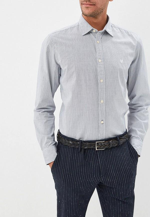 мужская рубашка с длинным рукавом marc o'polo, серая
