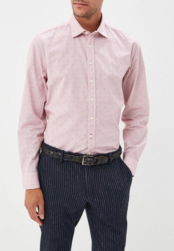 мужская рубашка с длинным рукавом marc o'polo, розовая