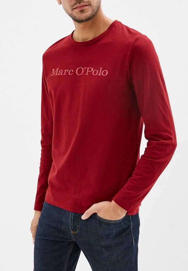 мужской лонгслив marc o'polo, бордовый