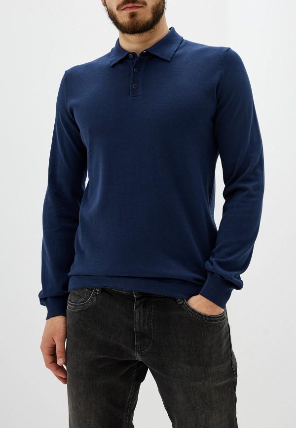 мужское поло marc o'polo, синее