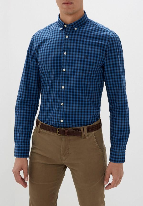 мужская рубашка с длинным рукавом marc o'polo, бирюзовая