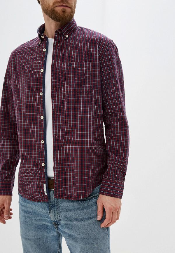мужская рубашка с длинным рукавом marc o'polo, красная
