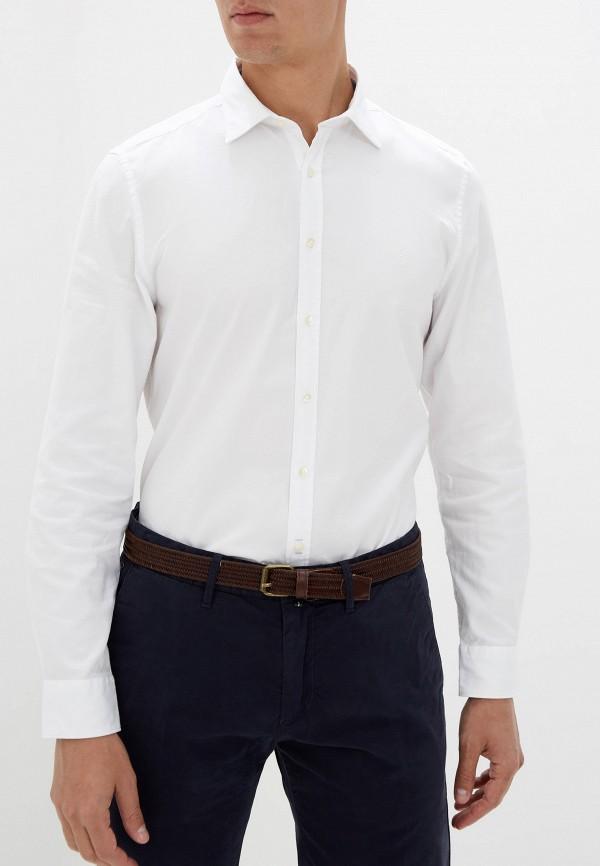 мужская рубашка с длинным рукавом marc o'polo, белая