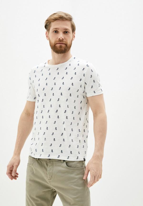 мужская футболка с коротким рукавом marc o'polo, белая