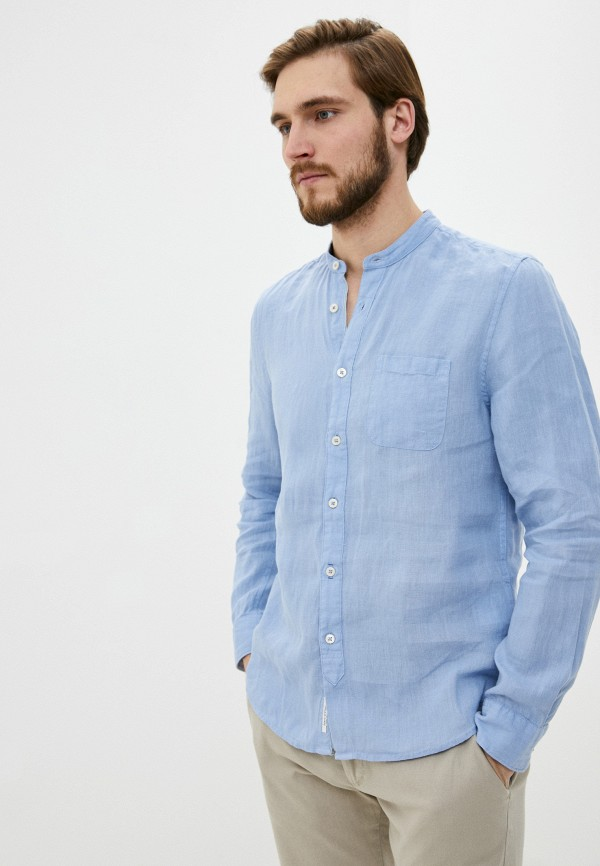 мужская рубашка с длинным рукавом marc o'polo, голубая