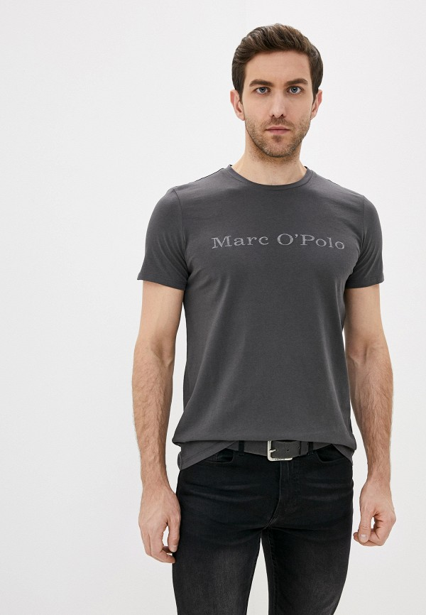 мужская футболка с коротким рукавом marc o'polo, серая