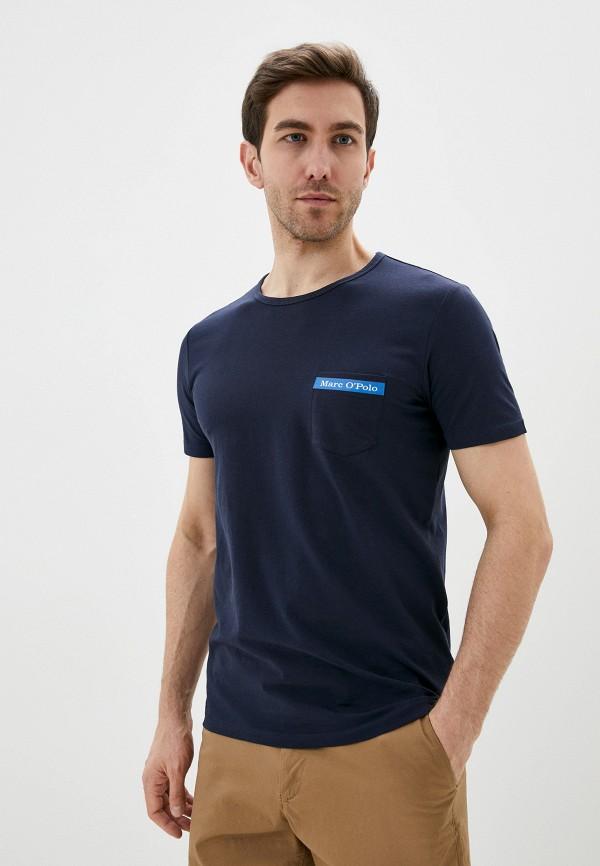 мужская футболка с коротким рукавом marc o'polo, синяя