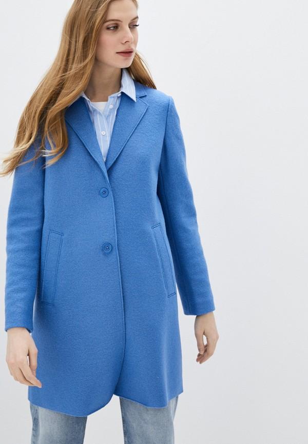 женское пальто marc o'polo, голубое