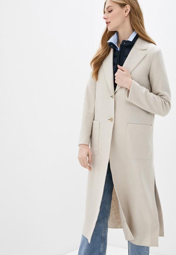 женское пальто marc o'polo, бежевое