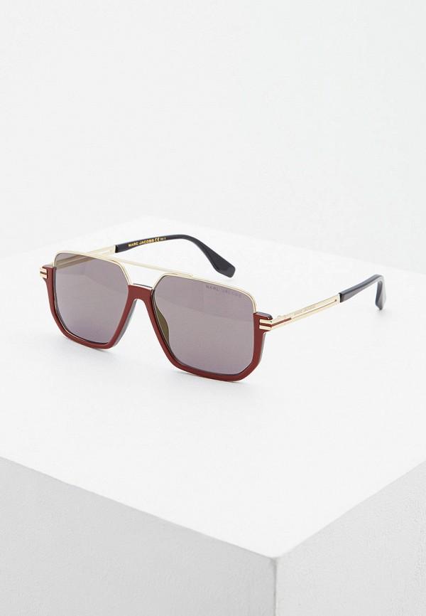 мужские квадратные солнцезащитные очки marc jacobs, бордовые