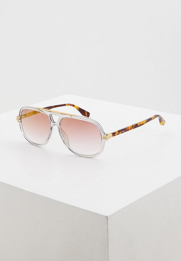 мужские авиаторы солнцезащитные очки marc jacobs, коричневые