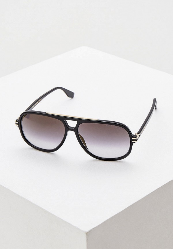 мужские авиаторы солнцезащитные очки marc jacobs, черные