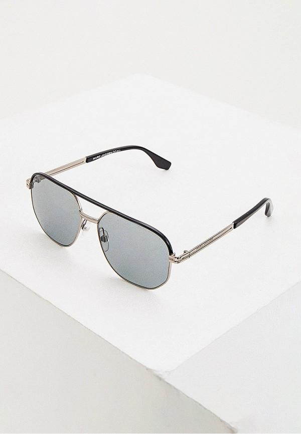 мужские авиаторы солнцезащитные очки marc jacobs, серебряные