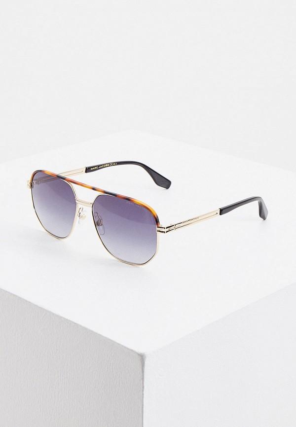 мужские авиаторы солнцезащитные очки marc jacobs, золотые