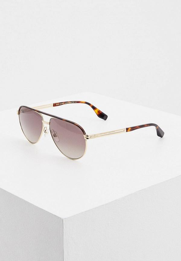 мужские солнцезащитные очки marc jacobs, коричневые