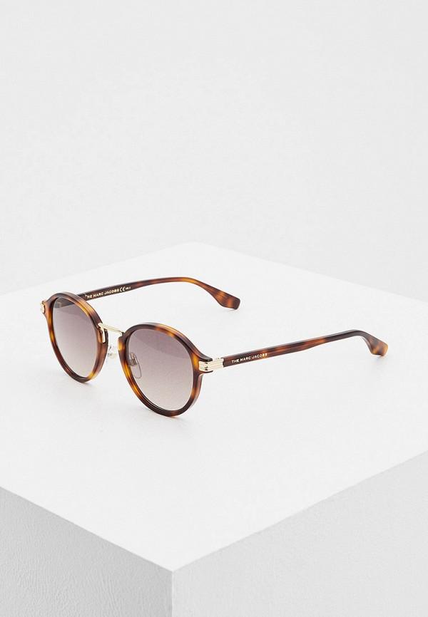 мужские круглые солнцезащитные очки marc jacobs, коричневые