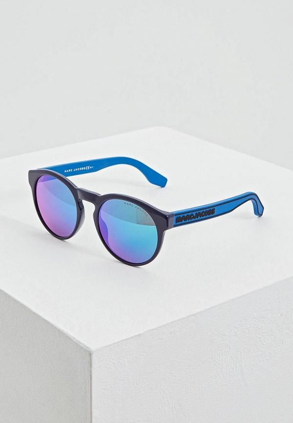 женские круглые солнцезащитные очки marc jacobs, синие