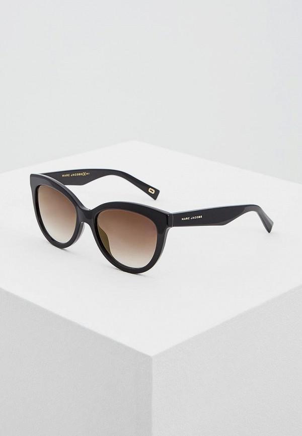 женские солнцезащитные очки кошачьи глаза marc jacobs, черные