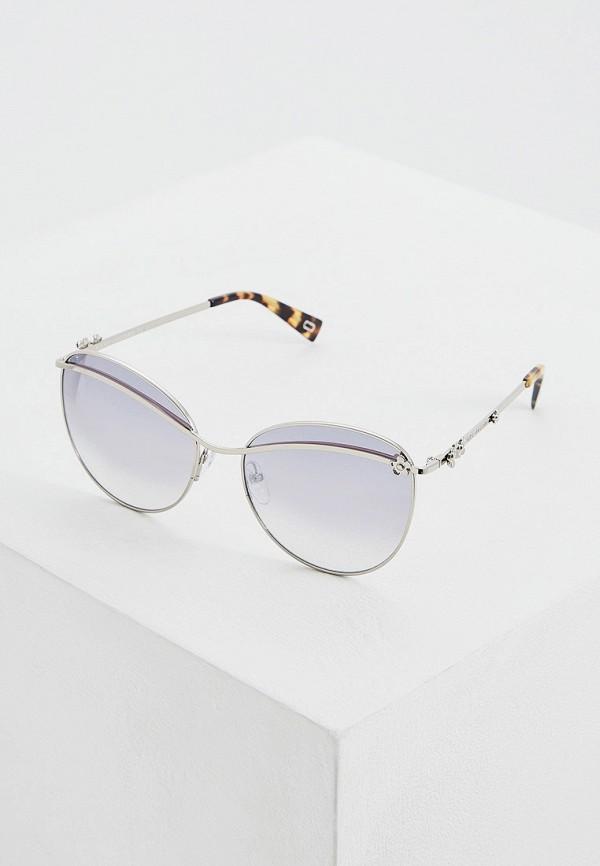 женские солнцезащитные очки кошачьи глаза marc jacobs, серебряные