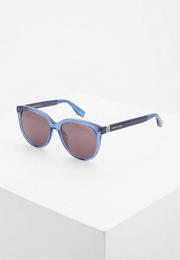 женские квадратные солнцезащитные очки marc jacobs, синие