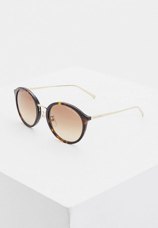 женские круглые солнцезащитные очки marc jacobs, коричневые