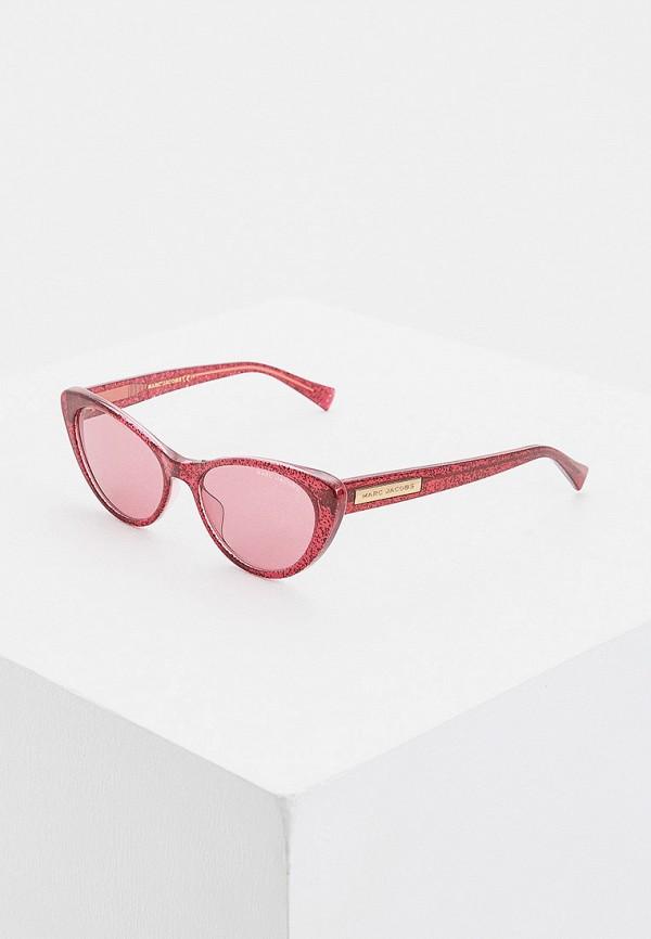 женские солнцезащитные очки кошачьи глаза marc jacobs, розовые