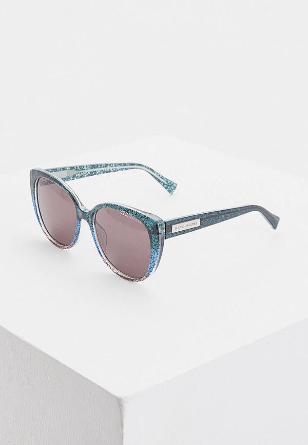 женские солнцезащитные очки кошачьи глаза marc jacobs, бирюзовые